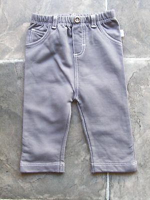 BNWT Baby Boy's Just Hatched Grey Fleecy Pants Size 00