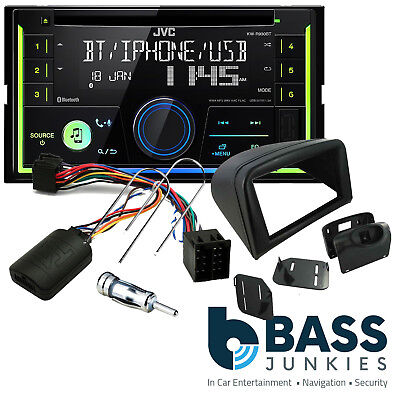 Peugeot 206 JVC Bluetooth CD MP3 USB Car Stereo & Double Din Steering Wheel Kit
