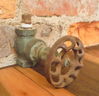 Antique Water Faucet Outdoor Hose House Spigot Victorian Industrial Steampunk