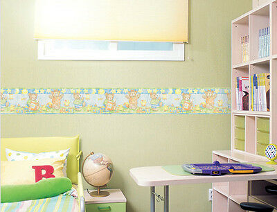 Bear Family Picnic Nursery Wall border Wallpaper Border 15cm x 5M