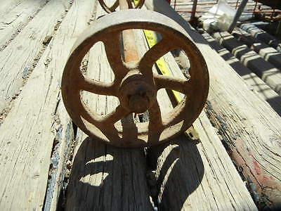 Vintage Farm Equipment AXLE w/STEEL WHEELS/ Steampunk