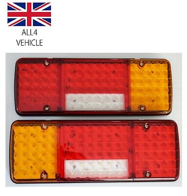 Pair 12V 92 Led Rear Lights Lamps For Truck Lorry Trailer Universal Usage
