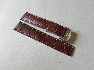 22mm Brown Watch Leather Strap Band Fit for Tag Heuer