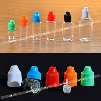 5ml 10ml 20ml 30ml 50ml Empty Plastic Dropper Bottles Squeezable Childproof Cap