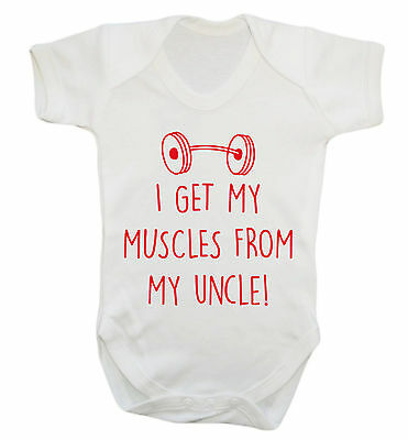 Get my muscles from uncle baby vest grow workout sweat squat gym weights 2946
