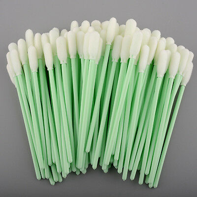 100 PCS Foam Tipped Cleaning Swabs swab for Inkjet Printer optical lens