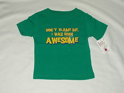 LITTLE TEEZ boy's graphic 'awesome' SHIRT t-shirt top Size 6 months NWT