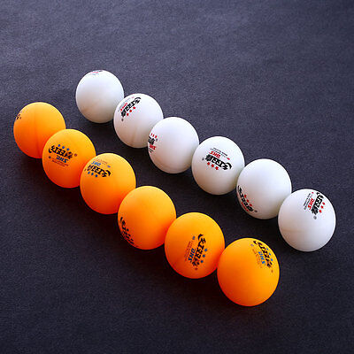 6Pcs 3 stars DHS 40MM Olympic Tennis Orange Ping Pong Balls Professional