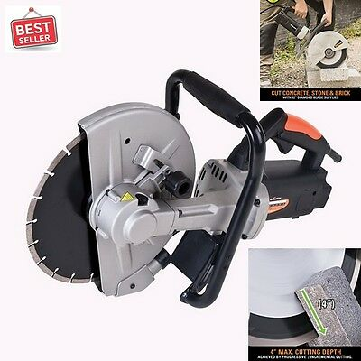 "Disc Cutter Electric 12"" Tools For Cuts Concrete Stone Brick Paving Professional"