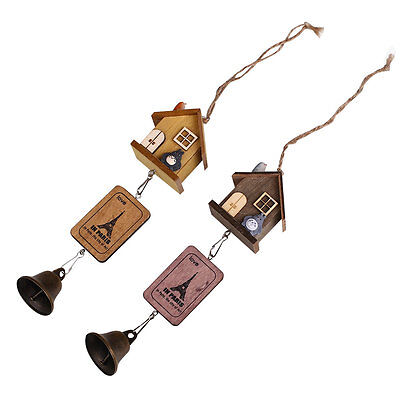 Japanese Totoro Wooden House Landscape Garden Outdoor Home Decor Wind Chime Bell