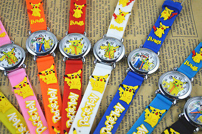 Lot Pikachu Pokemon Watches Cartoon Anime Wristwatch Kids Party Favors A450