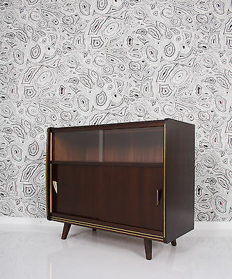 50s  SIDEBOARD  -  a 50  a50 50er brass fittings display cabinet a 50 a50