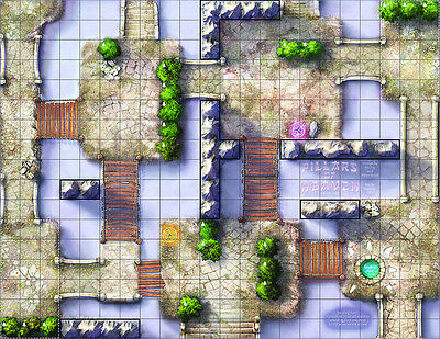 Dungeons and Dragons D&D MIniatures Official Double-Sided Battlemap Battle Map