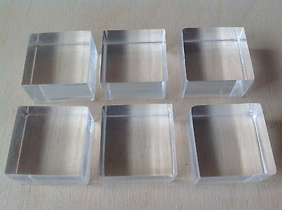 Acrylic Stamping Blocks 75mm X 75mm X 15mm Thick,made In The Uk,in Stock,