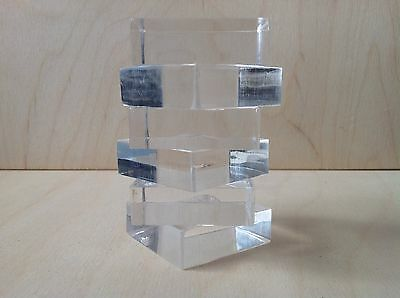Acrylic Stamping Blocks 25 X 25mm,15mm Thick Set Of 6 Made In The Uk,in Stock,