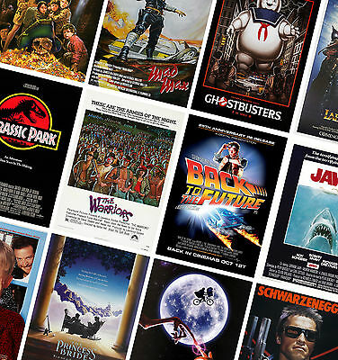 VINTAGE CLASSIC MOVIE POSTERS - A4 - A3 - Retro Prints - Mad Max, Goonies, Jaws