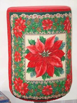 WATER COOLER BOTTLE COVER CHRISTMAS POINSETTIA LACE Quick Shipping View Window