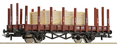 Roco 67479 Gauge H0 Stake wagon the SBB, loaded with Wooden crate Epoch III