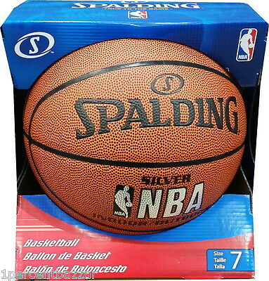 Spalding NBA SILVER INDOOR / OUTDOOR Basketball Sports Ball Size 7 - New