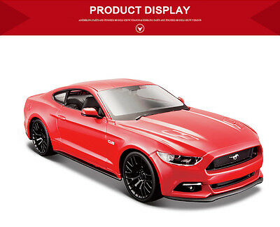 MAISTO 1:24 Ford MUSTANG GT DIECAST METAL MODEL KIT ASSEMBLY DIY CAR VEHICLE TOY