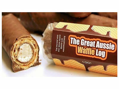Great Australian Waffle Log - Inspired by Retro Pollywaffle. HUGE!! Retro Choc