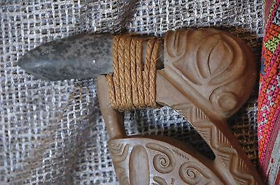 Old Marquesas Islands Carved Wooden Axes …hard to find collection piece