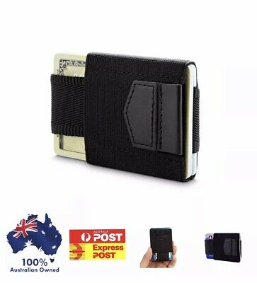 Mens magic flip leather wallet,slim Credit Card Holder