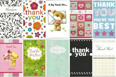 Pack of 10 Thank You Cards JTY001