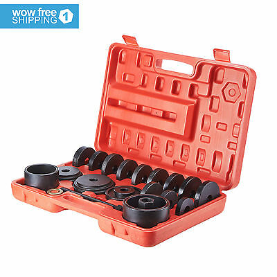 23 Front Wheel Bearing Press Kit Removal Adapter Puller Pulley Tool Kit W/CASE