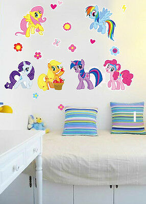 HOT 2018!!! My Little Pony Wall Sticker Removable Vinyl Art Decal Kids Decor