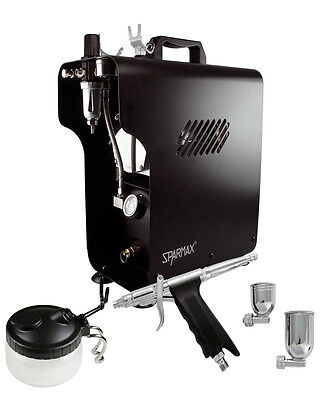 Professional Airbrushing Kit - Sparmax GP-50 Airbrush & Sparmax 620X Compressor