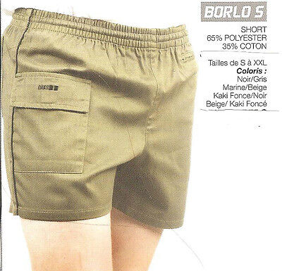 Short Homme 3 Poches Marque: Oaks Valley Taille Elastiquee