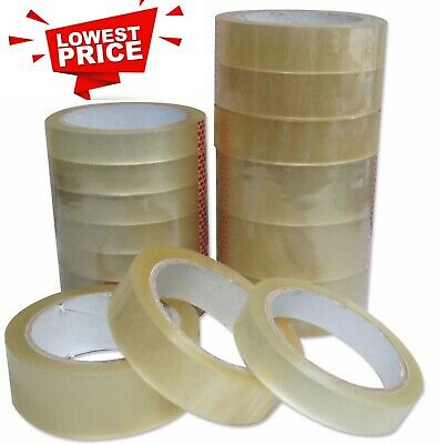 Rolls Clear Strong Sticky Packaging Packing Tape Adhesive Cellotape 25Mm X 66M