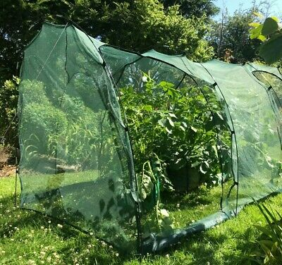 New 5m Garden Net Mesh Tunnel Cloche Allotment Plant Protector Mini Greenhouse