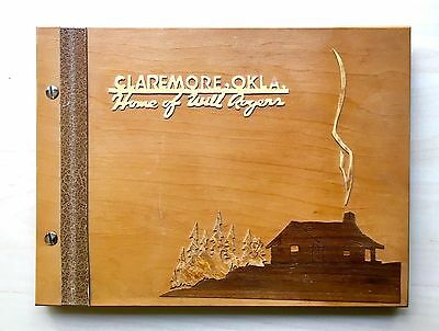 Vintage Limited Ed Will Rogers Claremore Autograph Book Pasadena Wood Metalcraft