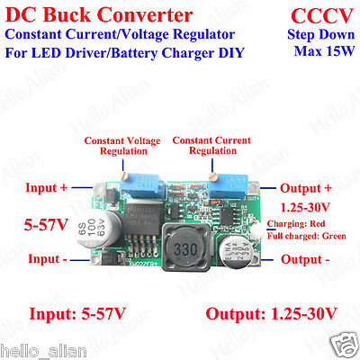 DC 5V 12V 24V 3A Constant Current/Voltage LED Driver Buck Step-Down Converter