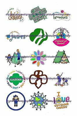 """Girl Scouts 1"""" Circles  Bottle Cap Images. $2.45-$5.50  *****free Shipping*****"""