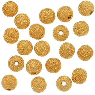 Gold Plated Stardust Sparkle Round Beads 4mm (100pcs) DT