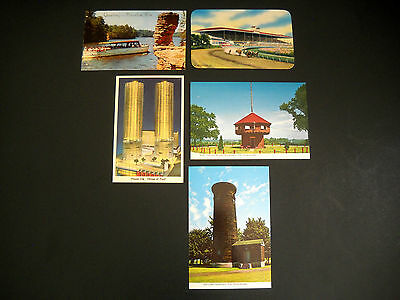 Lot of 5 Vintage US Postcards - Midwest / Erie PA / Chicago IL / Wisconsin Dells