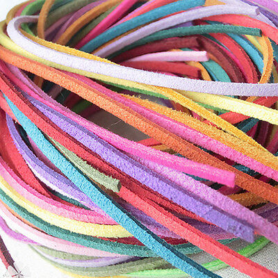 """MS Leathercraft  1/8"""" Deer Leather Lace chain charms 15M  Single Color Strand"""