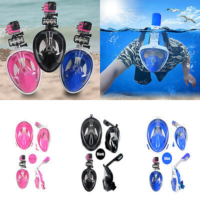Practical Swimming Full Face Mask Surface Diving Snorkel Scuba for GoPro Swim