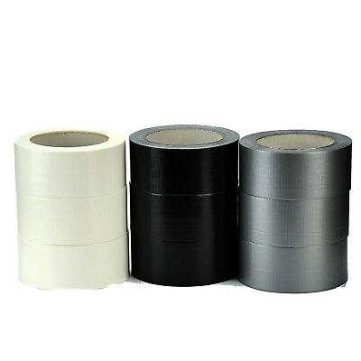 Self Adhesive Cloth Duct Gaffer Gaffa Tape 48Mm X45M Black White Silver