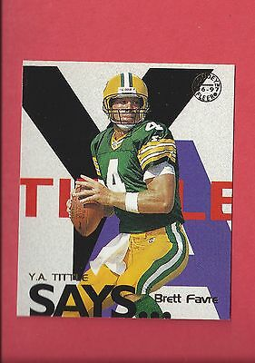 1997 Fleer Goudey Tittle Says #9 Brett Favre Packers