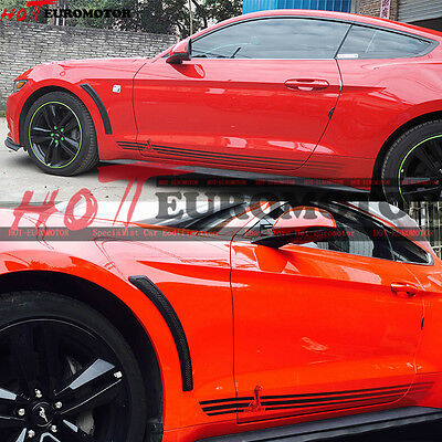 Only fit 2015-16 Mustang GT V6 Shelby Carbon Twill Fender/Mud Scoop Vent Winglet