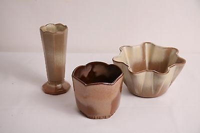 FRANKOMA POTTERY Lot of 3 PRAIRIE GOLD  Pieces Dishes