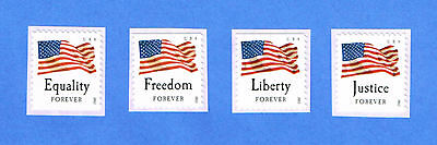 4641-4644 Four Flags 2012 MNH SA   All 4 Singles      Forever
