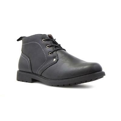 Beckett Mens Black Ankle Lace Up Boot - Sizes 6,7,8,9,10,11,12