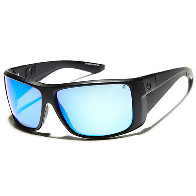 New Dragon Kit Polarized Sunglasses Matte Black/Blue ION Lens 720-2259 RRP $210