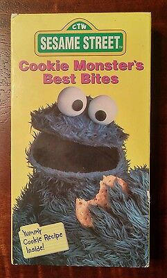 Sesame Street - Cookie Monster's Best Bites (VHS, 1995 ...