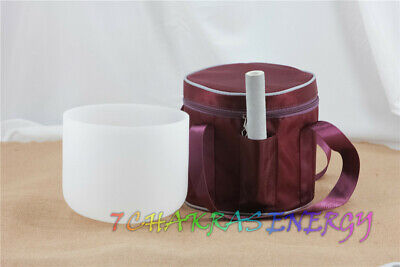 """13"""" or 14"""" frosted crystal singing bowl purple carrying bag case"""
